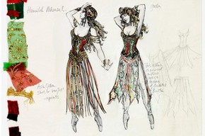 Costume design for chorus in 'The Phantom of the Opera', Maria Bjornson, 1986. Museum no. S.272-1999