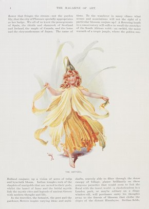 Daffodil costume design, Wilhelm, reproduced in The Magazine for Art, date unknown. Museum no. CIS:S.138-2001