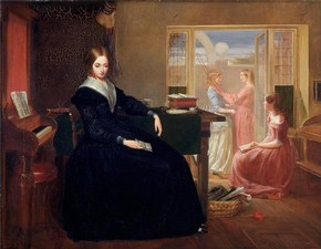 Richard Redgrave R.A., 'The Governess', 1844. Museum no. FA.168[O]