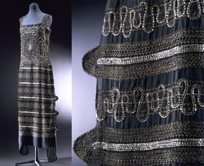 Embroidered sleeveless dress, Chanel, 1922. Museum no. T.86-1974