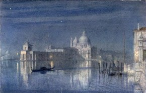 Sir Edward John Poynter, &#39;Sta Maria della Salute, Venice: Moonlight&#39;, 1863. Museum no. 422-1891