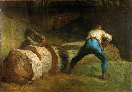 The Wood Sawyers, Jean-François Millet. Click for the full size version