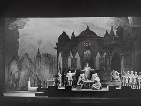 Production photograph of Rimsky-Korsakovs opera 'Le Coq dOr', London, 1954, photograph by Houston Rogers