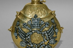 Gunpowder flask of Peter III, 1728-1762, Museum no.OR-2244, © The Moscow Kremlin Museums