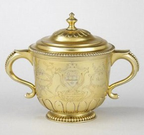 Silver-gilt cup and cover, about 1685. Museum no. M.34:1&2-2008.