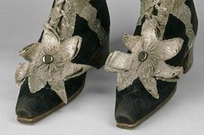 Boots worn by the Herald of the Order of St Andrew, Johann Daniel Ermscher, 1797. Museum no. TK-1693/1-2, © The Moscow Kremlin Museums