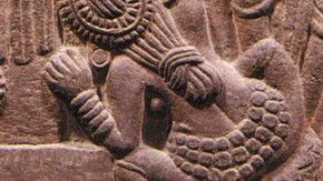 Detail, relief carved panel, Bharhut