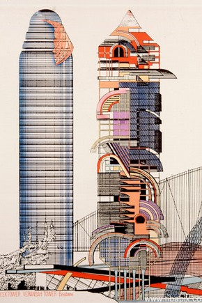 Sleek Tower and Verandah Tower by Peter Cook, 1984 © RIBA Library Drawings Collection