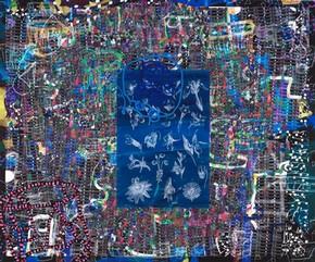Джеймс Фор Уокер, «Темная нить» (фрагмент), 2007. Номер музея.  E.147-2009.  Подарено Джеймсом Фором Уокером