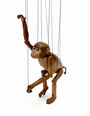 Monkey marionette, Arthur Wilkinson, 1920s. Museum no S.120-1987