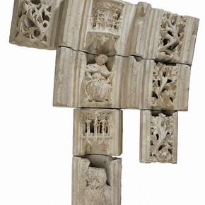 Figure.1 Fragments of arched doorway from St. Hilaire le Grand, Poitiers, about 1500. Museum no. A.12:1-1911