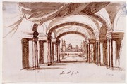 Sir James Thornhill, Set design for Arsinoe - Act 2 Scene 1, Early 18th century. Musuem no. D.27-1891