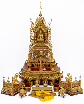 Mandalay Buddhist Shrine (detail), 19th century. Museum no. IS.11:1-1969