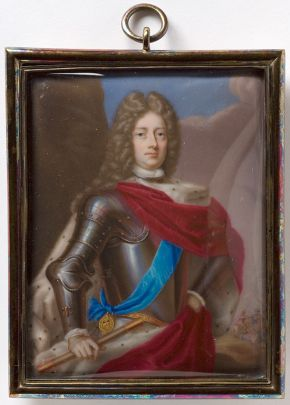 Enamel miniature, John Churchill, 1st Duke of Marlborough, Charles Boit, about 1705, England. Museum no. LOAN:GILBERT.302-2008, © Victoria and Albert Museum, London
