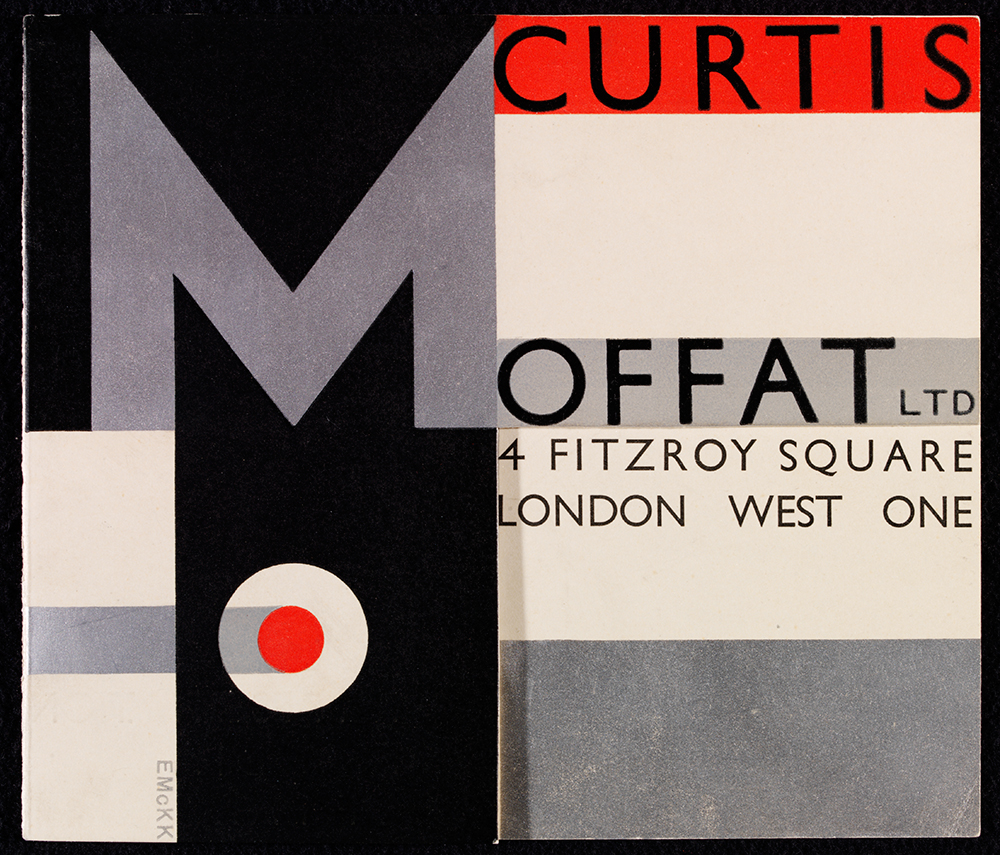 Invitation to the opening of the new premises of Curtis Moffat Ltd, designed by Edward McKnight Kauffer, June 1929. Museum no. E.500-1980, © Victoria and Albert Museum, London
