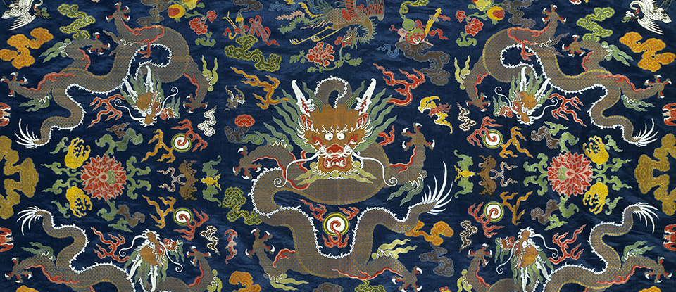 Panel, unknown maker, China, 1800 - 1930. Museum no. FE.134-1983. © Victoria and Albert Museum, London.