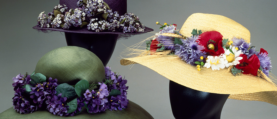 Hats, 20th Century. Museum no. T.226-1985, T.261-1985 and T.263-1985. © Victoria and Albert Museum, London