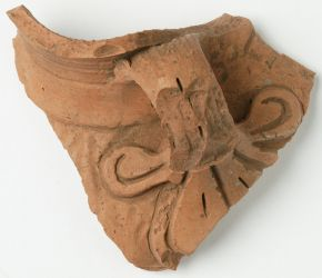 Handle fragment, Siyelik, China, 300-400 AD. Museum no. LOAN:INDIA.38 (Si.001), © Victoria and Albert Museum, London. On loan from the Government of India and the Archaeological Survey of India