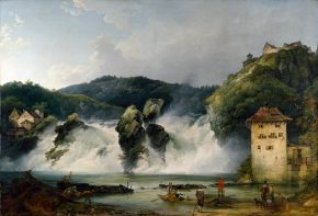 Philippe Jacques De Loutherbourg (1740-1812), The Falls of the Rhine at Schaffhausen, 1788, oil on canvas. Museum no. 1028-1886, © Victoria and Albert Museum, London