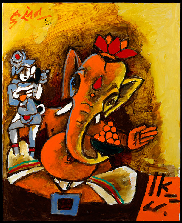 M.F. Husain: Master Of Modern Indian Painting   About The Exhibition