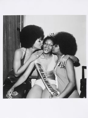 Raphael Albert, 'Miss Black & Beautiful',circa 1970s, from the portfolio 'Black Beauty Pageants'. Museum no. E.314-2013. © Raphael Albert/ Autograph ABP/ Victoria and Albert Museum, London. Supported by the National Lottery through the Heritage Lottery Fund.