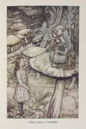 Arthur Rackham (1867-1939) Illustrated edition of Lewis Carroll's Alice's Adventures in Wonderland