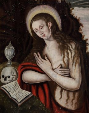 The Penitent Magdalene, painting, unknown maker, England, 1570-99, oil on panel. Museum no. 1430471. © National Trust Images