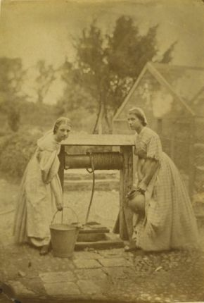 The Idylls of the Village or The Idols of the Village, Oscar Gustaf Rejlander possibly in collaboration with Julia Margaret Cameron, c. 1863, albumen print. Museum no. PH.261-1982 @ Victoria and Albert Museum, London
