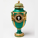 Vase solaire, Sevres, 1772, France, porcelain, painted in enamels and gilt. Museum no. 805A/1,2-1882, © Victoria and Albert Museum, London