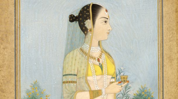 'Miniature portrait of a lady by Rani Golapati, 18th century. Museum no IM. 232-1921