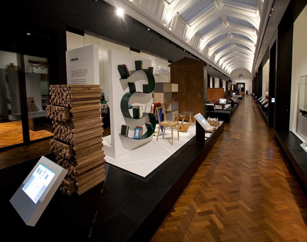 Futureplan new furniture gallery victoria and albert museum for Furniture design exhibition