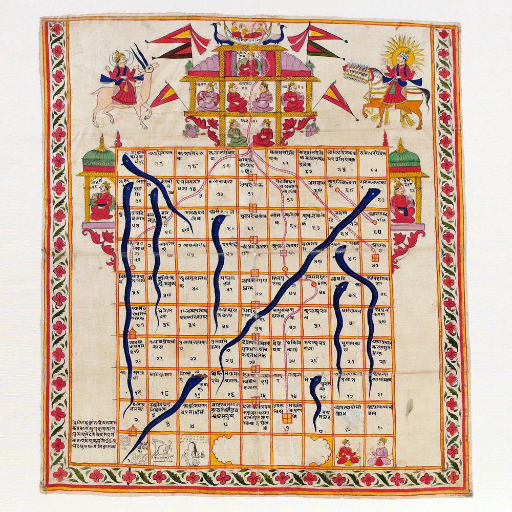 Jain Snakes & Ladders - play online - Victoria and Albert Museum