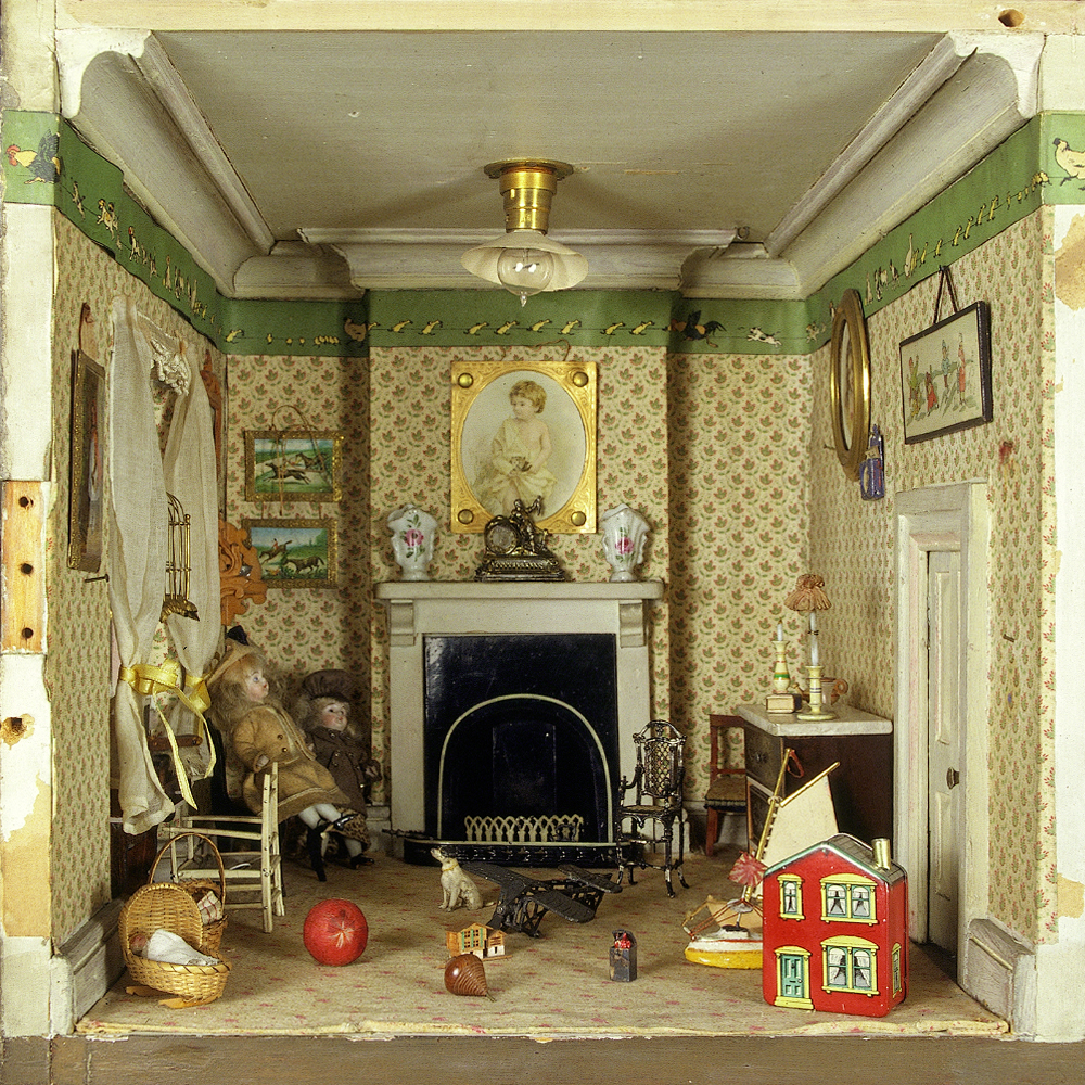 dolls house wallpaper bedroom - photo #14