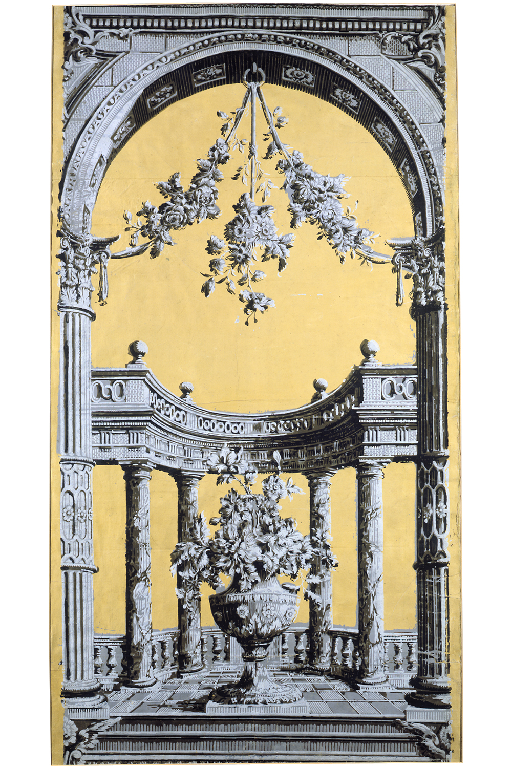 Portion Of A Classical Pillar And Arch Wallpaper Detail Panel From The