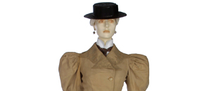 Interactive: Woman's Walking Suit, by Jacques Doucet, about 1894