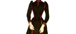 Interactive: Silk Day Dress, by Worth, 1889