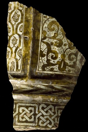 Figure 3 - Fragment of a vase, 1250-1350, Malaga, Spain. Museum no. C.787-1921
