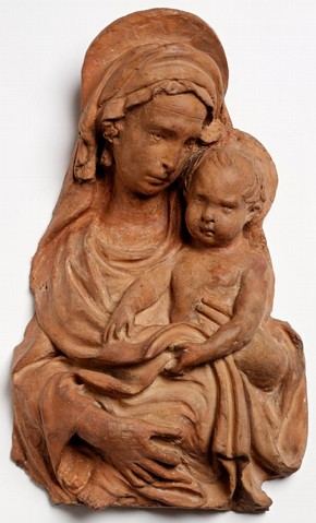 Relief, probably Lorenzo Ghiberti, 15th century, terracotta, Florence, Italy. Museum no. A.7-2003, © Victoria and Albert Museum, London