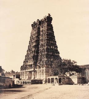 'The East Gopuram of the Great Pagoda', photography by Linnaeus Tripe, 1858. Museum no. IS.40:2-1889