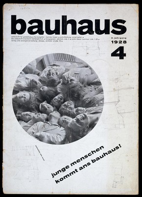 Bauhaus Magazine, vol.2, no.4, 1928, Joost Schmidt (1893–1948), Germany. Museum no. S.89.1002