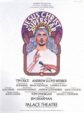 Jesus Christ Superstar programme, Palace Theatre, London, 9 August 1972
