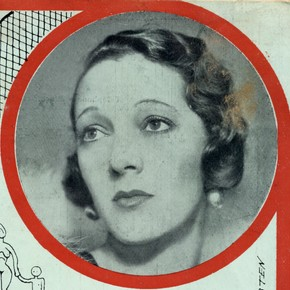 Picture of Gertrude Lawrence in programme for Cole Porter's musical Nymph Errant (excerpt), Manchester Opera House, 1933
