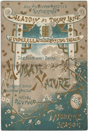 Programme for 'Aladdin', at the Theatre Royal, Drury Lane, 1885. © Victoria and Albert Museum, London