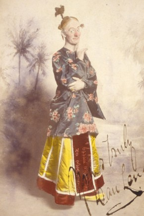 Dan Leno as Widow Twankey in 'Aladdin' at the Drury Lane Theatre, London, 1896.