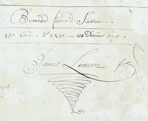 Detail of James Leman's signature, Museum no. E.1861:29-1991