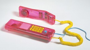 XK200 twinphone, designed by Swatch, Switzerland. Museum no. W.3-1996. © Victoria & Albert Museum, London