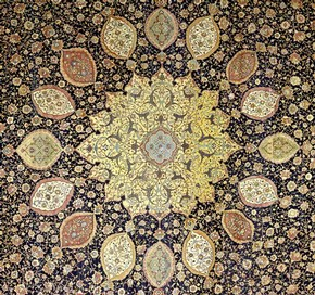 The Ardabil Carpet (detail), Iran, 1539-40. Museum no. 272-1893