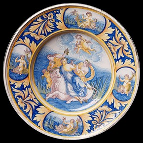 Plate depicting the Rape of Europa, about 1670. Museum no. 363-1870