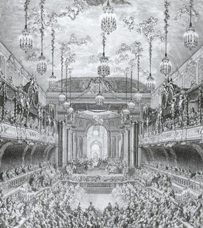 Charles Nicolas Cochin, Ballet at Versailles in 1745, Engraving, 1745
