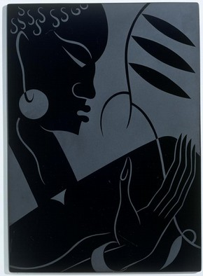Sand-blasted glass panel by Sigmund Pollitzer for Pilkington Ltd, St Helens, Merseyside, UK, 1933-38. Museum no. C.230-1991